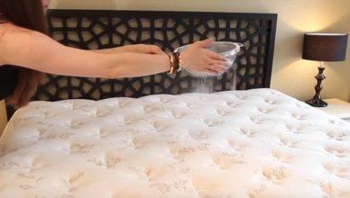 رشت البيكنج صودا على السرير