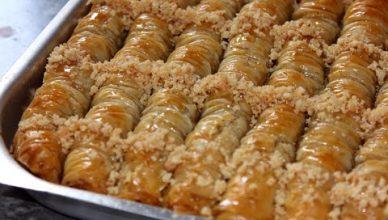 حلويات رمضان أصابع البقلاوة المبرومة باللوز