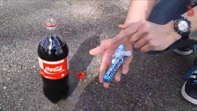 شاهد ماذا حدث لزجاجة كوكاكولا بعد